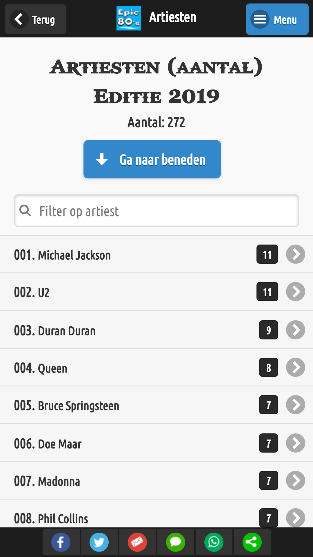 Epic 80's Top500 voor Android & iOS